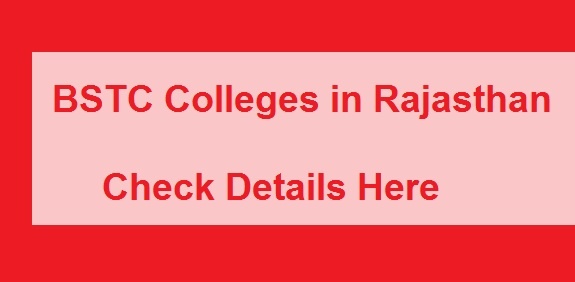 Rajasthan BSTC Colleges list 2019
