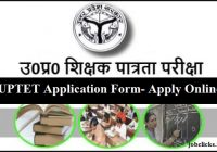 UPTET Application Form 2020