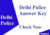 Delhi Police Answer Key 2020