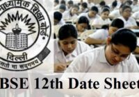 CBSE 12th Date Sheet 2020