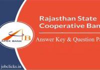 RSCB Banking Assistant Answer Key 2020   Rajasthan Cooperative Bank Answer Key