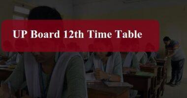 UP Intermediate Date Sheet 2020
