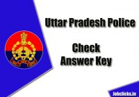 UP Police Answer Key 2020