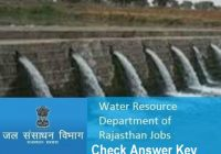 WRD Rajasthan Answer Key 2020