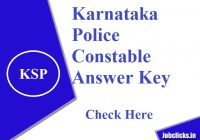 Karnataka Police answer key 2020