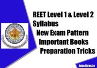 REET Level 1 & Level 2 Syllabus 2020