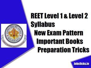 REET Level 1 & Level 2 Syllabus 2021