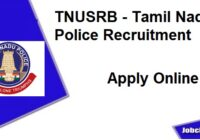 Tamilnadu Police Recruitemnt 2020 | TNUSRB Recruitment 2020-21