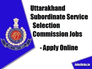 UKSSSC Recruitment 2020-21
