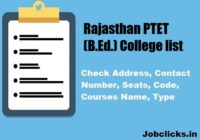 Rajasthan PTET Colleges list 2020