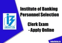 IBPS Clerk Recruitment 2020-21