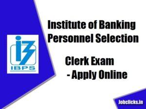 IBPS Clerk Recruitment 2020-21
