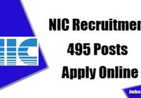 NIC Recruitment 2020