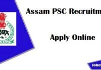 APSC Recruitment 2020-21