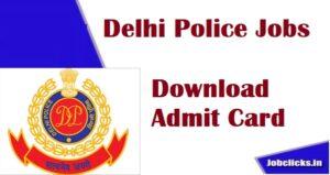 Delhi Police Admit Card 2020