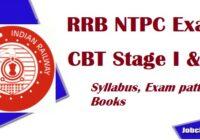 RRB NTPC Syllabus 2020-21