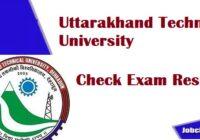UTU Result 2020 | Uktech Results 2021