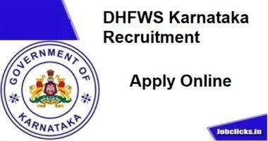 DHFWS Karnataka Recruitment 2020-21