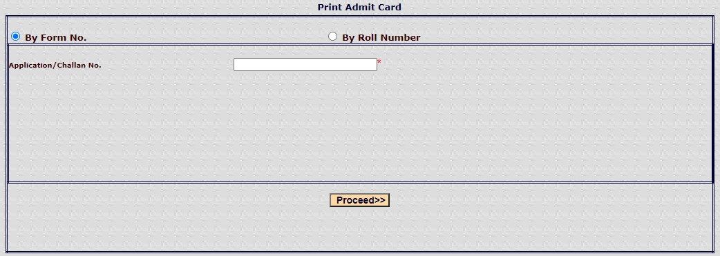 Download PTET Admit Card By Application Form Number