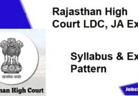 Rajasthan High Court LDC Syllabus 2020-21