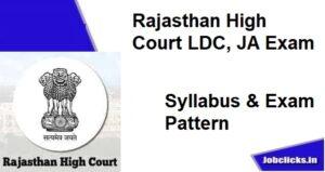 Rajasthan High Court LDC Syllabus 2020-21