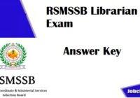 RSMSSB Librarian Answer key 2020