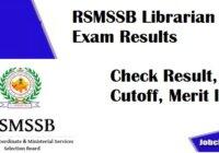 RSMSSB Librarian Result 2020-21