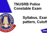 TNUSRB Police Constable Syllabus 2020-21