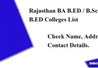 Rajasthan BA Bsc BED College list 2020-21