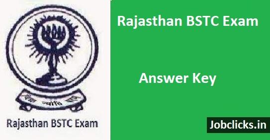 Rajasthan BSTC Answer Key 2021