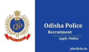 Odisha Police Recruitment 2021-22