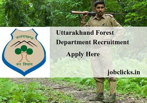 Uttarakhand Forest Department Recruitment 2021